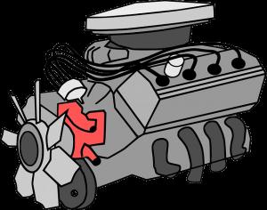 illustration of engine