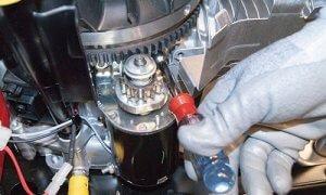 image of mower starter