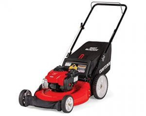 image of a gas powered mower