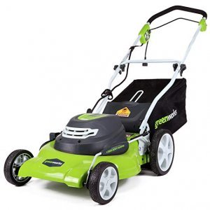image of greenworks green mower