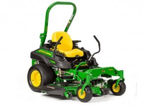 image of green john deer mower