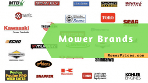 image full of mower brands' logo