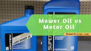 image of motor and mower oil