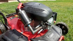 image of diy mower muffler