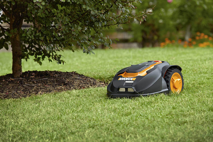 picture of a robot mower