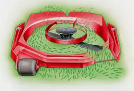 illustration of rotary mower cutting