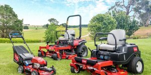 picture of three toro mowers