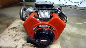 picture of v-twin mower engine