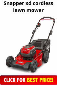 snapper xd 82v max electric cordless 21-inch lawn mower